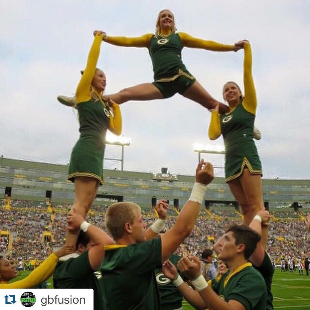 Some Of Our Cheerleaders Will Be At Gbfusion Allstar Cheer And Dance Open Gym Celebration This Saturday Green Bay Packers Cheerleaders Cheerleading Open Gym
