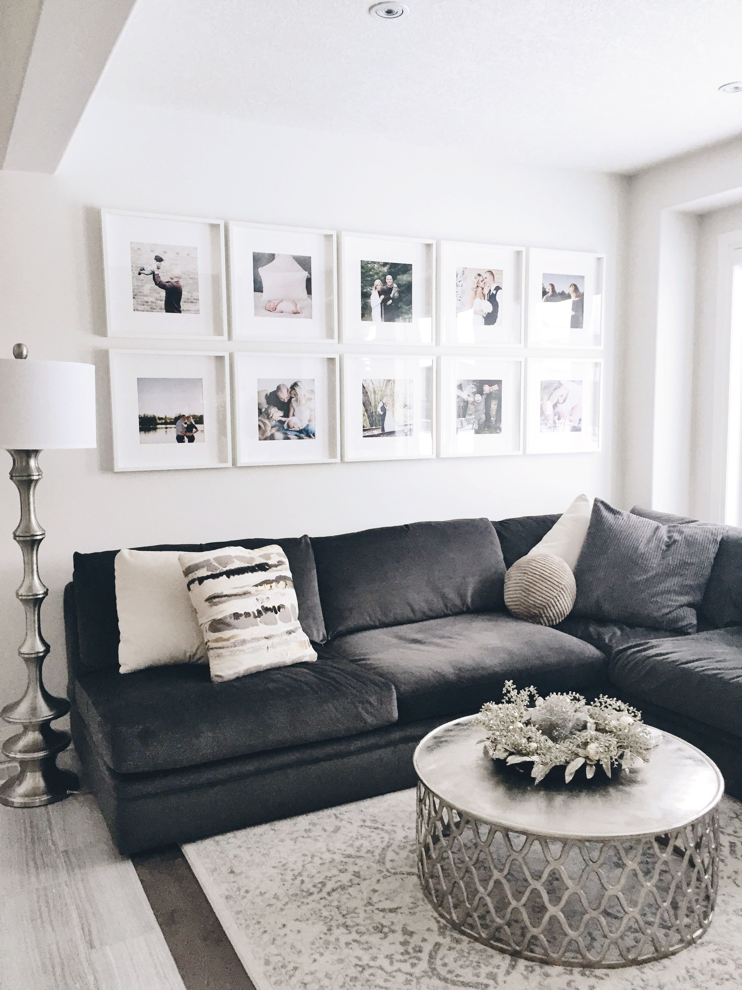 Photo Wall Ribba Ikea Frames Photo Gallery Picture Wall Living Room Living Room Photos Ikea Living Room #photo #frames #living #room