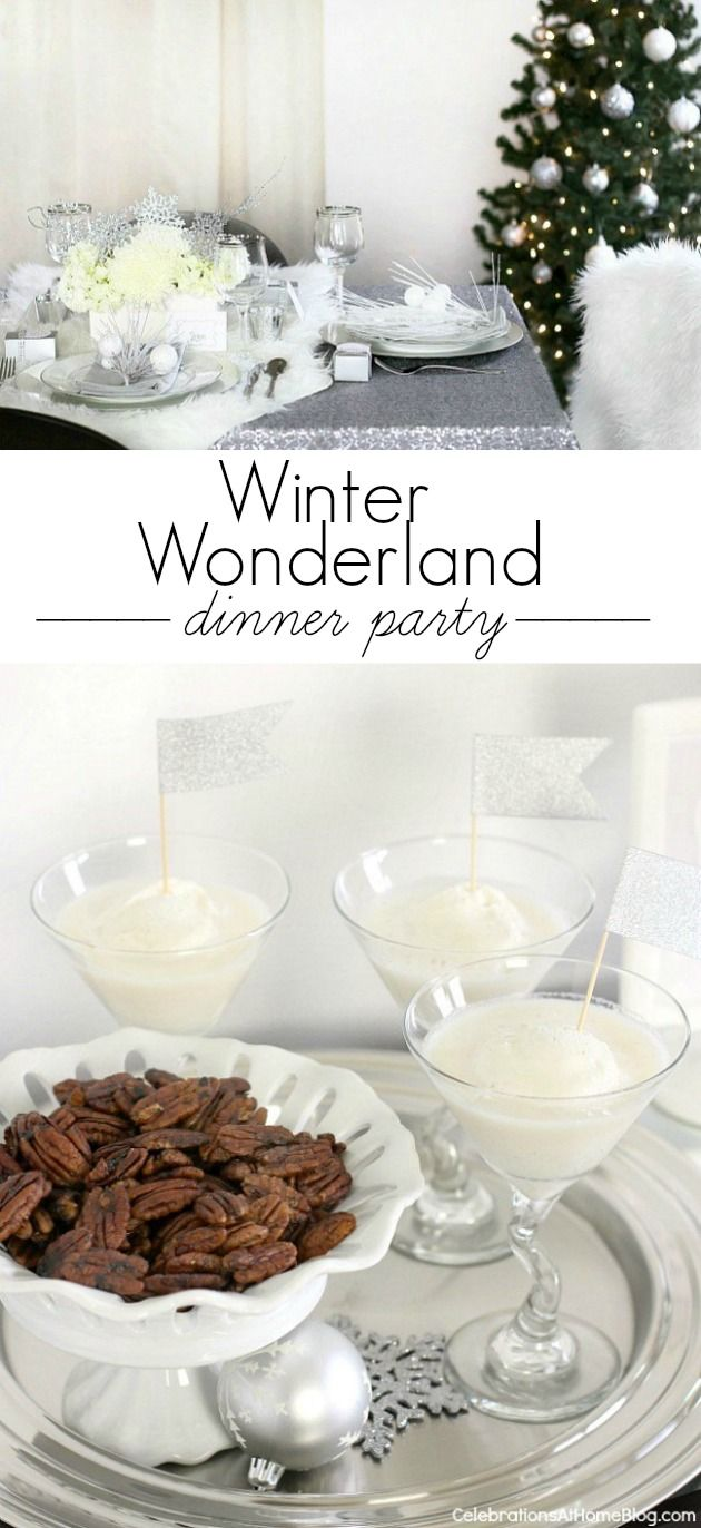 Girls Dinner Party Ideas Part - 49: Winter Wonderland Holiday Dinner Party Ideas And Recipes