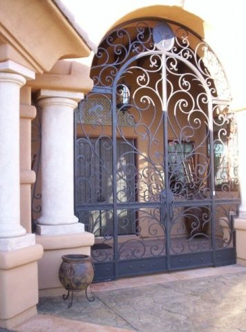 Detailed Entryway Gates Wrought Iron Security Entryway Home Decor