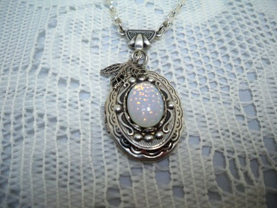 necklace pin teardrop lockets living memory floating worry silver locket opal