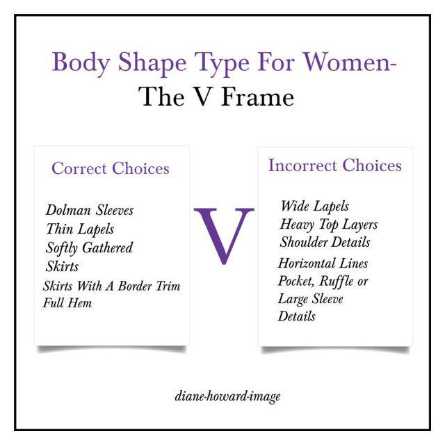Body Shape Type For Women-The V Frame | Pinterest | Body shape types ...
