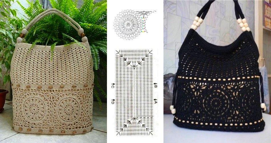 Linda bolsa al crochet con patrones | CROCHET BOLSOS Y BOLSAS ...