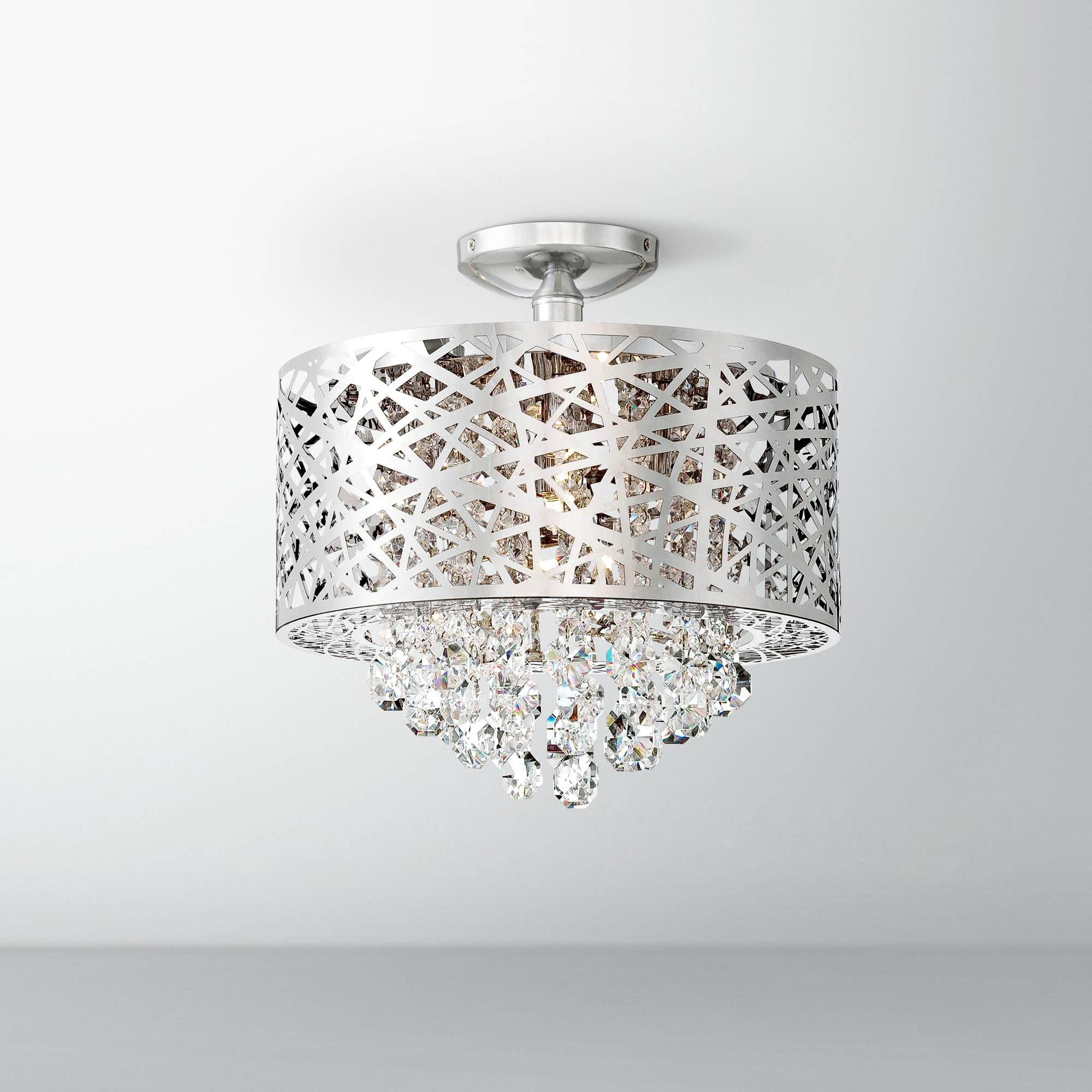 "Lite Source Benedetta 14"" Wide Cut Crystal Ceiling Light - #7J817 | Lamps Plus"