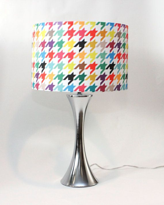 Lamp Shade 14 Drum Houndstooth Bright And Colorful Happy
