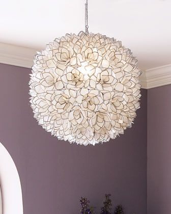 Capiz shell pendant light modern chandeliers girls room or home capiz shell pendant light modern chandeliers girls room or home office 549 horchow mozeypictures Image collections
