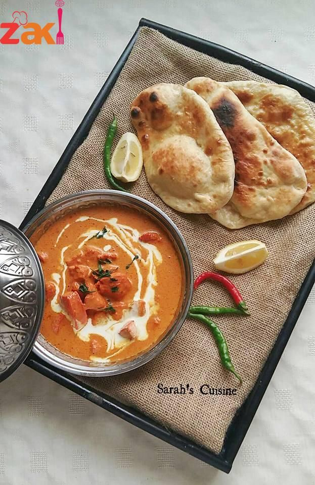 دجاج بالزبده مع خبز النان الهندي اطباق هنديه بامتياز زاكي Indian Food Recipes Food Recipes