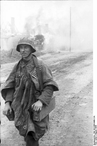Image result for german soldier with mg ammo tin