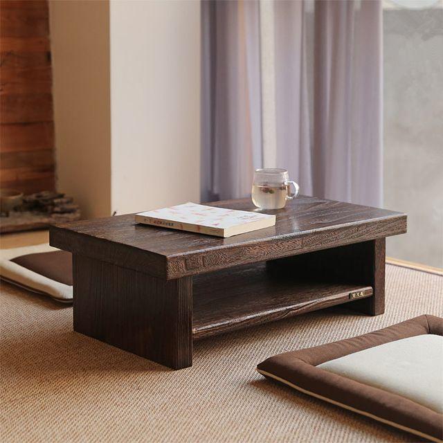 Asian Antique Furniture Japanese Floor Tea Table Rectangle Size 80