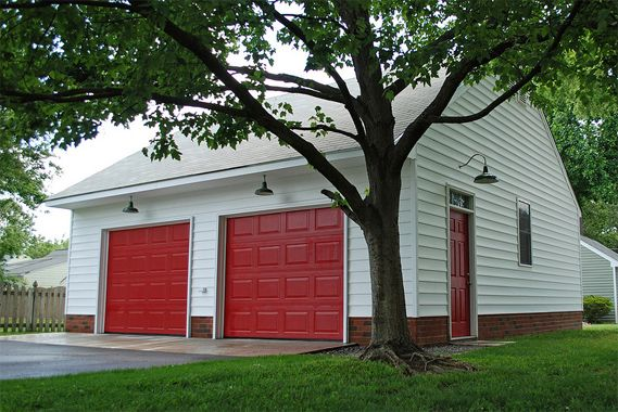 The Garage Journal » Blog Archive » Red Garage Doors