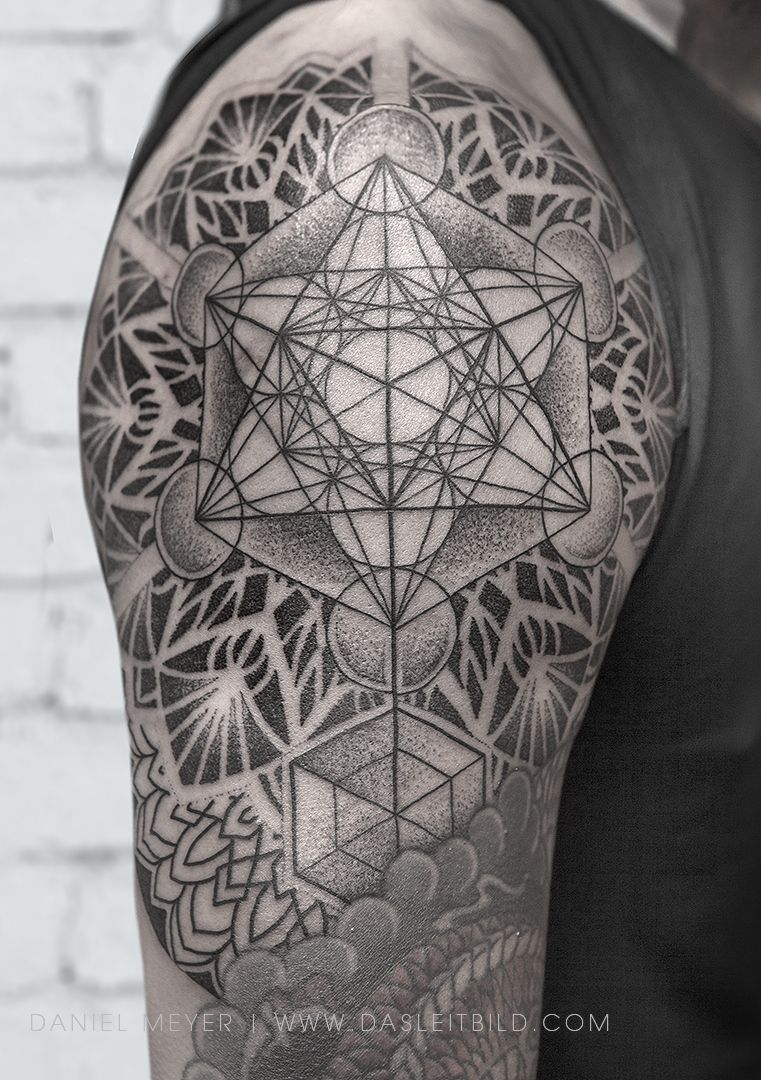 When Did Geometry Tattoos Start: Reat Start On Tri's Sacred Geometry Shoulder Tattoo. Can't