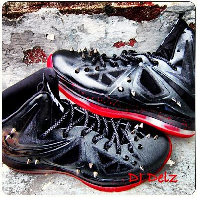 """buy online a3a63 4fc3a THE SNEAKER ADDICT  Nike LeBron 10 """"MK Fatality AKA LeBron Boutin"""" X Custom  Sneaker By Dj Delz (Detailed Images)"""