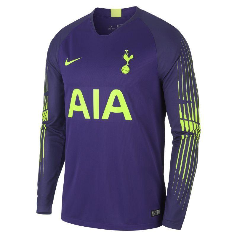 2018 19 Tottenham Hotspur Stadium Goalkeeper Men S Long Sleeve Football Shirt Purple Goalkeeper Sleeves