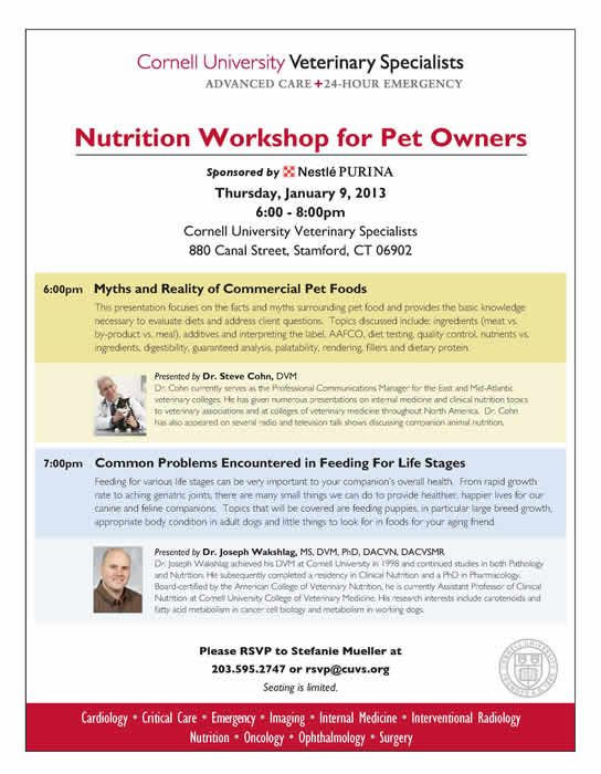 Join Us For Our First Pet Owner Ce Session Of The Year Our
