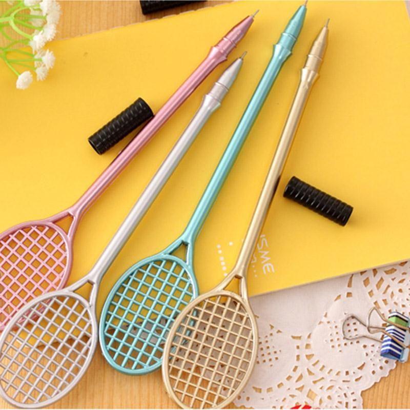 Creative Badminton Pen Badminton Racket Gel Ink Pen cartoon stationery kawaii school Office supplies