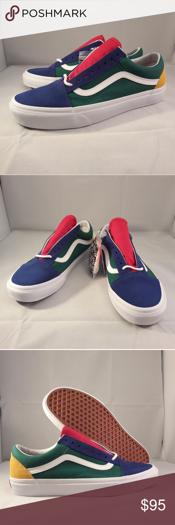 Vans Old Skool Yacht Club Skate Shoes. Vans Old Skool Yacht Club Skate  Shoes. VN0A38G1R1Q Color  Blue Green Yellow Red Color Block Condition   Brand new with ... 231a38eac