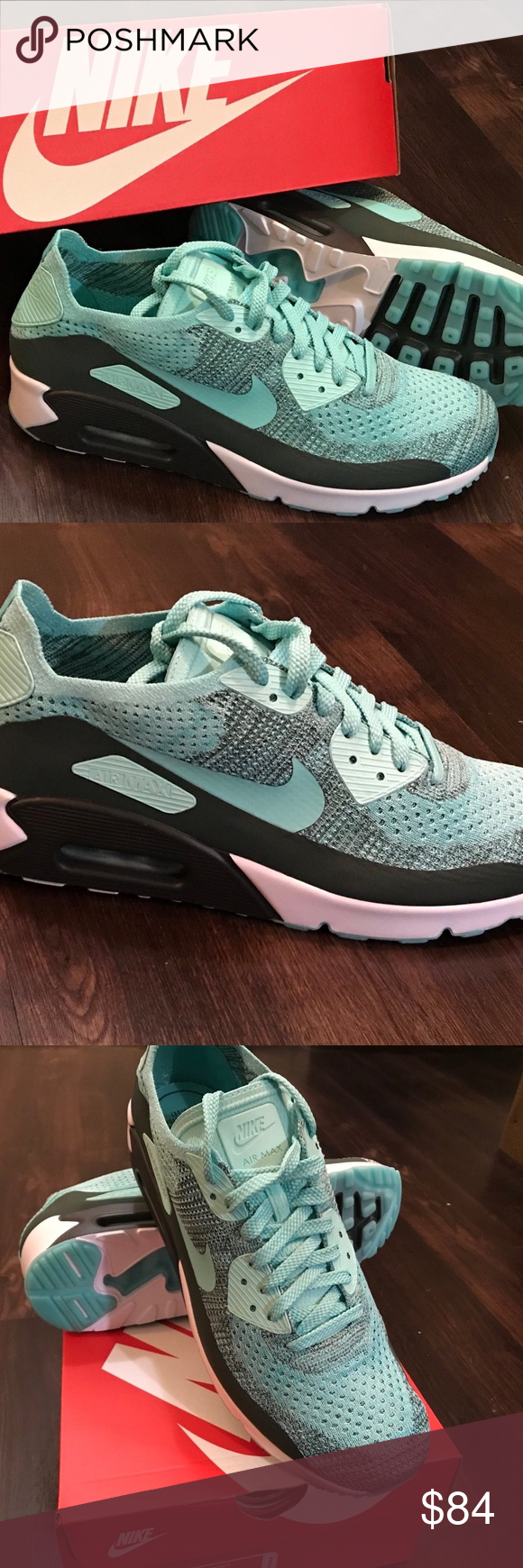 nike air max 90 flyknit hyper turquoise