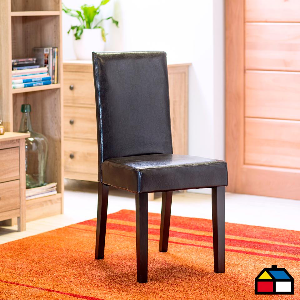 Silla pu bistro chocolate muebles sodimac sillas for Sillas ergonomicas sodimac