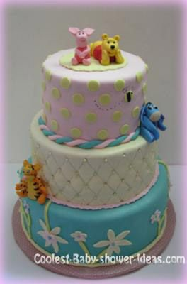 Coolest Winnie The Pooh Baby Shower Cake
