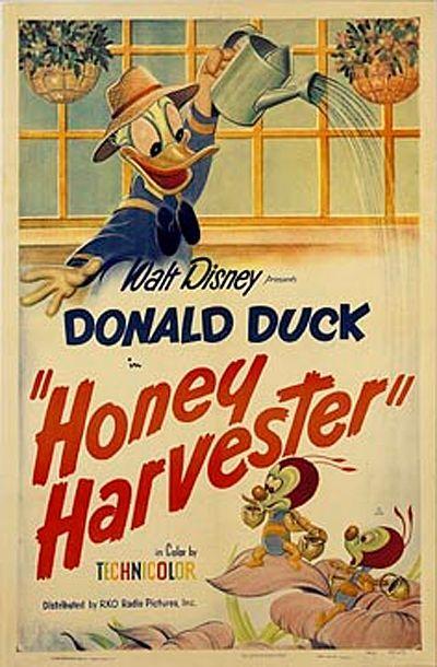 Honey Harvester 1949 Disney Cartoon Movies Disney Posters Classic Disney Movies
