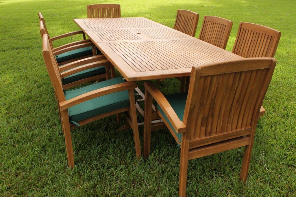 High Quality Ocean Rectangular Table U0026 8 Pacific Armchairs Teak Set | Oceanic