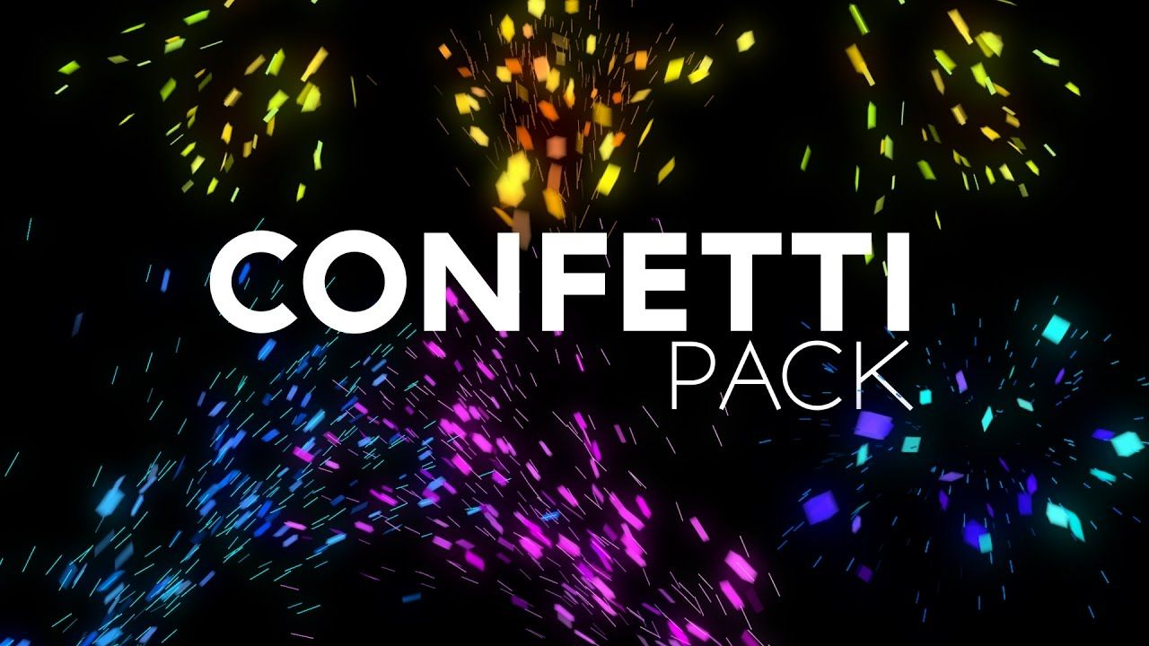 Free Confetti After Effects Project File Download With Images
