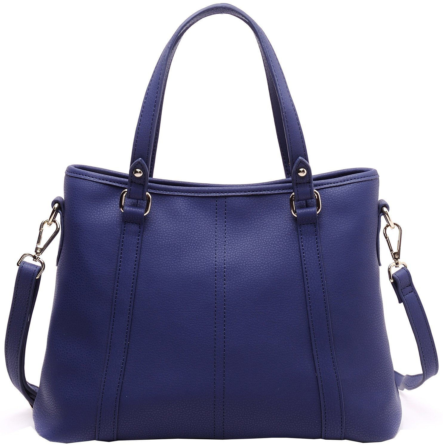 69.59 Heshe® Perfect Medium Large Multi-pocket Soft Cow Leather Shoulder Bag Cross Body Satchel Tote Top-handle Collection Handbag Messenger Bag (Navy Blue): Handbags: Amazon.com