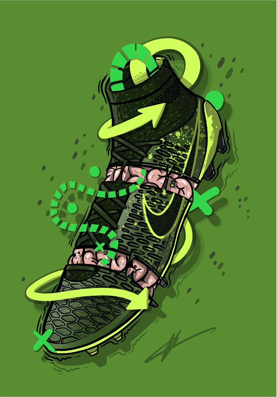 Football Art Nike Magista Obra Electro Flare Sneaker Art Football Art Soccer Art