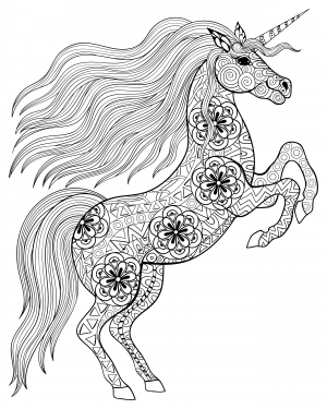 Coloring Pages For Adults Unicorn Coloring Pages Antistress Coloring Animal Coloring Pages