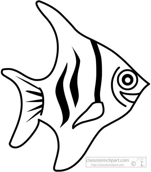 Fish outline classroom. Travel clip art black
