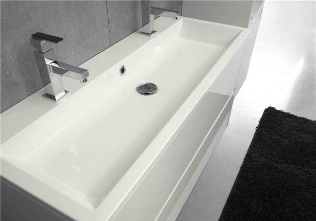 Ondiepe Wastafel Meubels : Ondiepe wastafel met brede waskom beat 100 x 40 x 2 cm bathroom