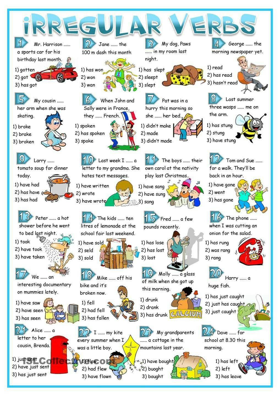 Irregular Verbs 2 Ejercicios De Ingles Actividades De Ingles Tarea De Ingles [ 1440 x 1018 Pixel ]