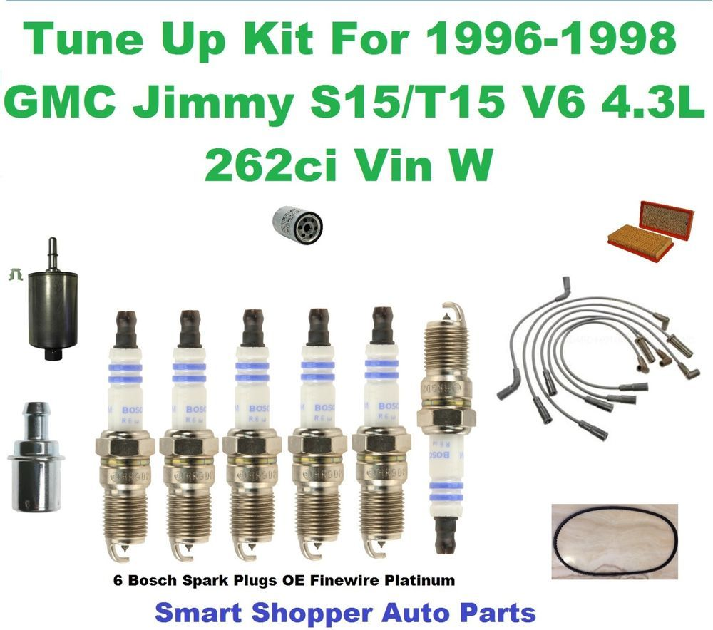 medium resolution of 1996 98 gmc jimmy oil air fuel filter pcv valve spark plug wire set tune up aftermarketproducts