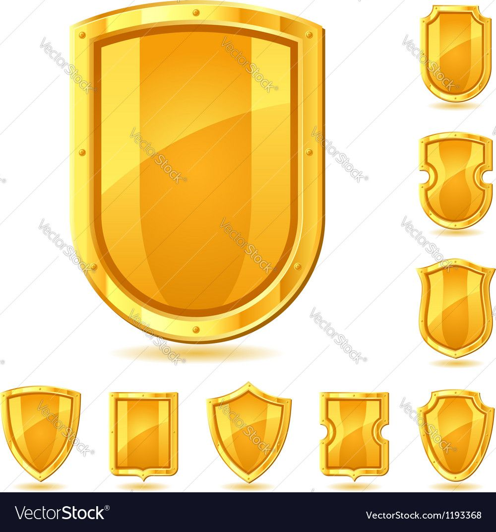 Set Of Shield Icons Symbols And Signs Download A Free Preview Or