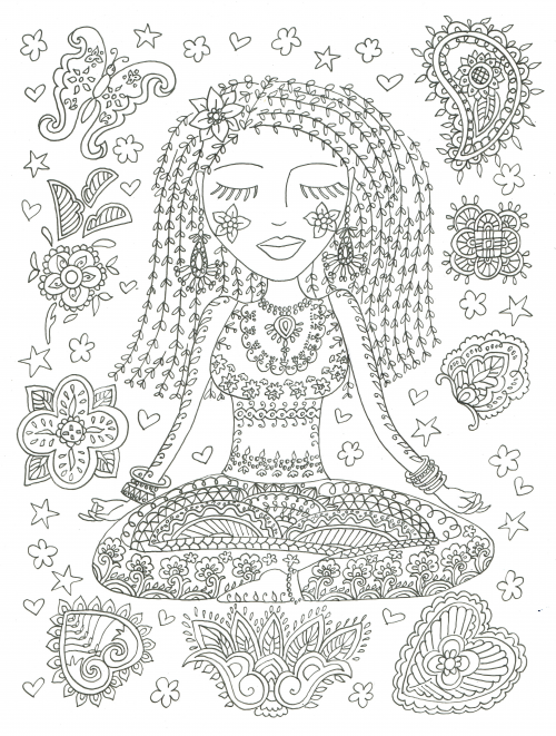 Yoga Girl Coloring Page Kidspressmagazine Com Mandala Coloring Books Coloring Pages For Girls Coloring Pages