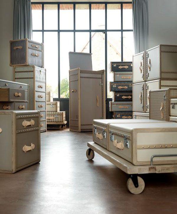 Superb Emmanuelle Legavreu0027s Vintage Luggage Furniture