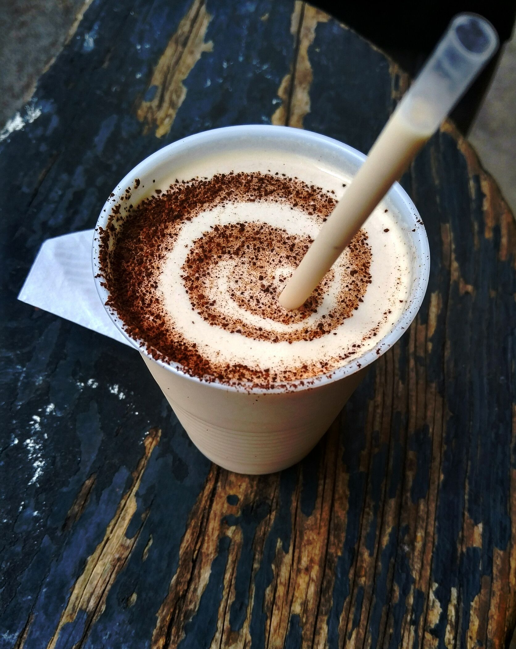 [OC] Frozen Irish coffee (with a disproportional amount of