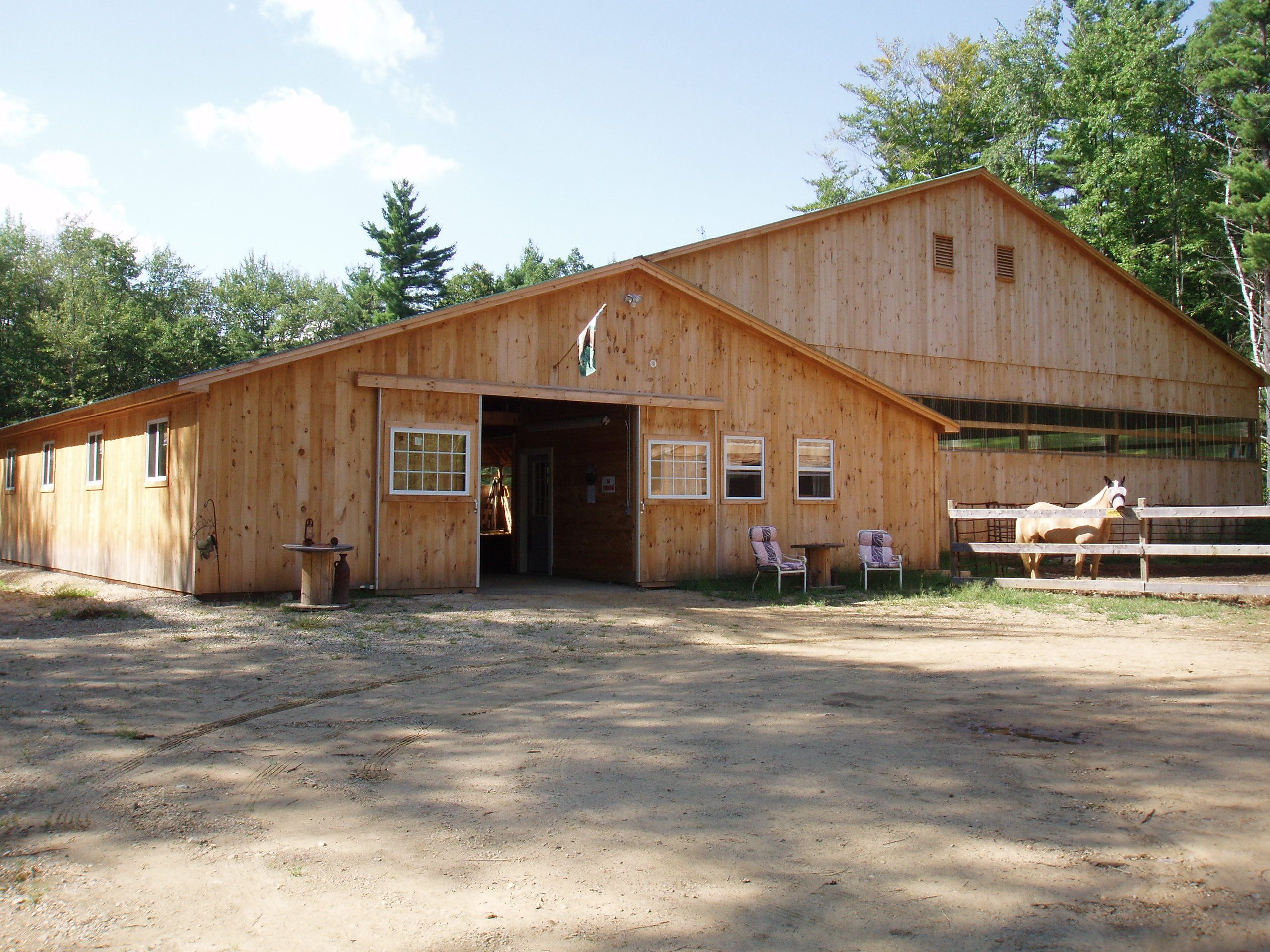 Indoor Arena With T Barn