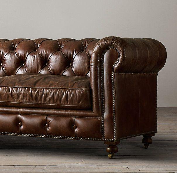 72 The Pee Kensington Leather Sofa W X 34 D