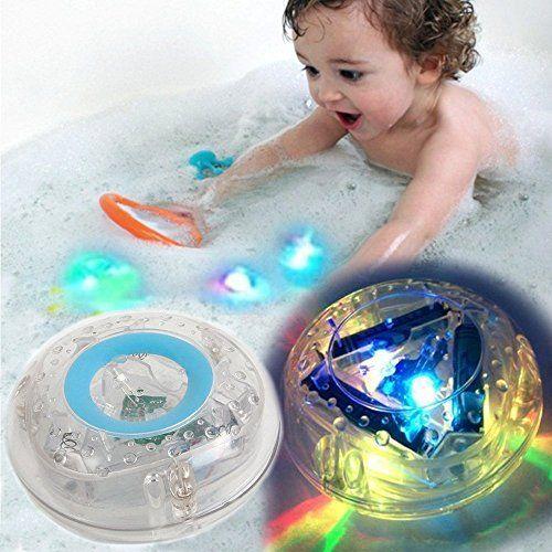 Baby Waterproof Bath Tub Toy Fun LED Light Children Bathroom Bathtub Party Toy