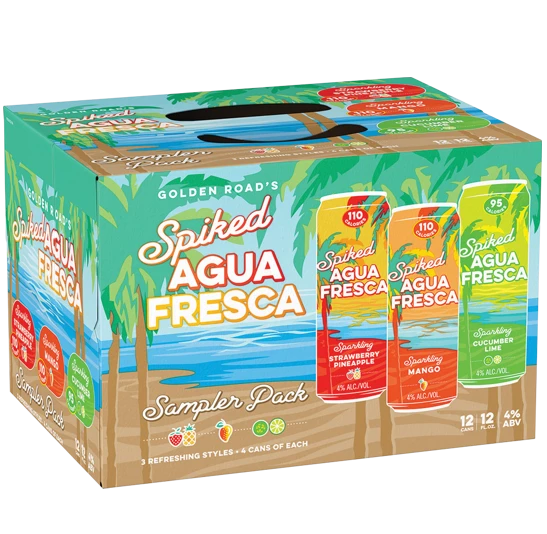 Golden Road Spiked Agua Fresca Variety Pack 12pk Cans Agua Fresca Fresca Fruit Drinks