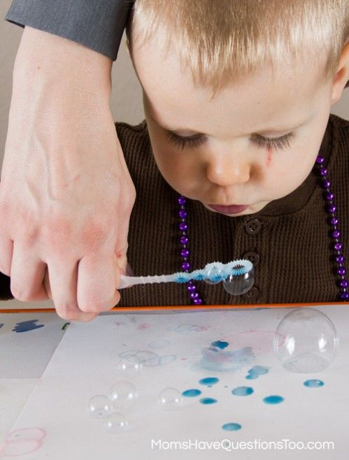 bubble painting color game for toddlers moms have questions too - Toddler Color Games