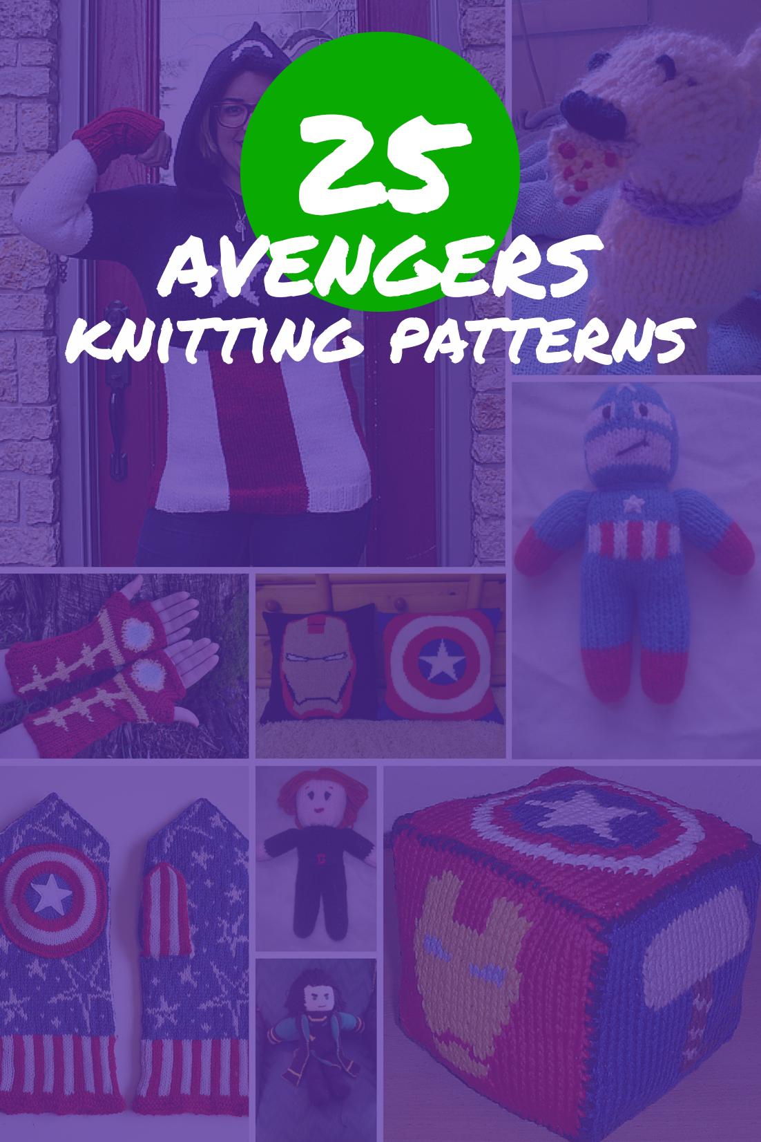 25 Avengers Knitting Patterns   see all at knittingfornerds.com ...