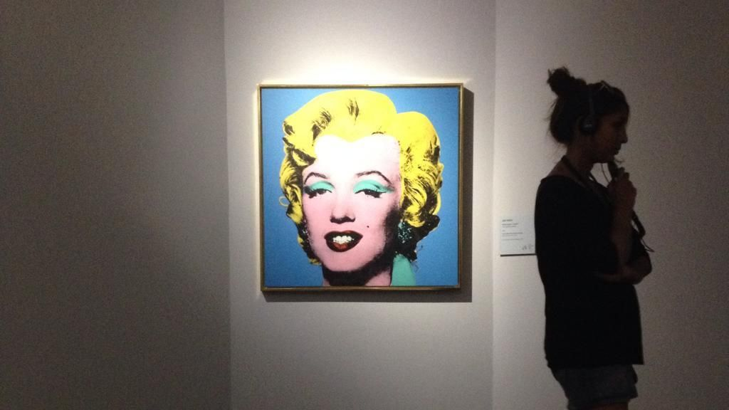 Blue Marilyn by Andy Warhol | Fantastic show about Andy Warhol at Palazzo Cipolla (they have ice cream too!)   Photo by @Kevin del Rosario