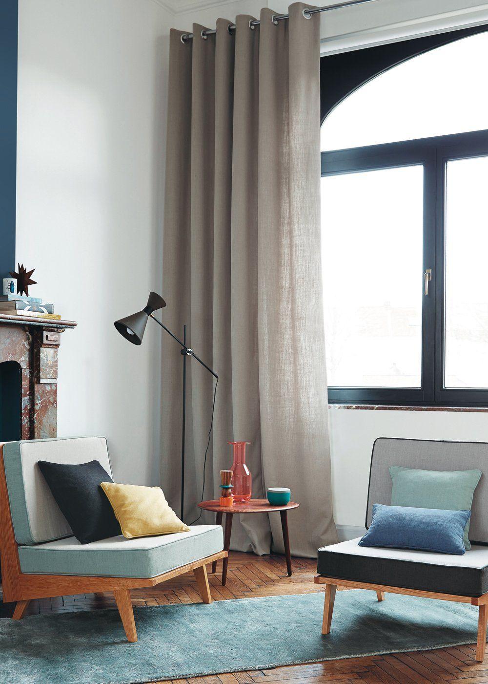 20 beaux rideaux pour en mettre plein la vue d coration scandinave scandinavian decoration - Beaux rideaux salon ...