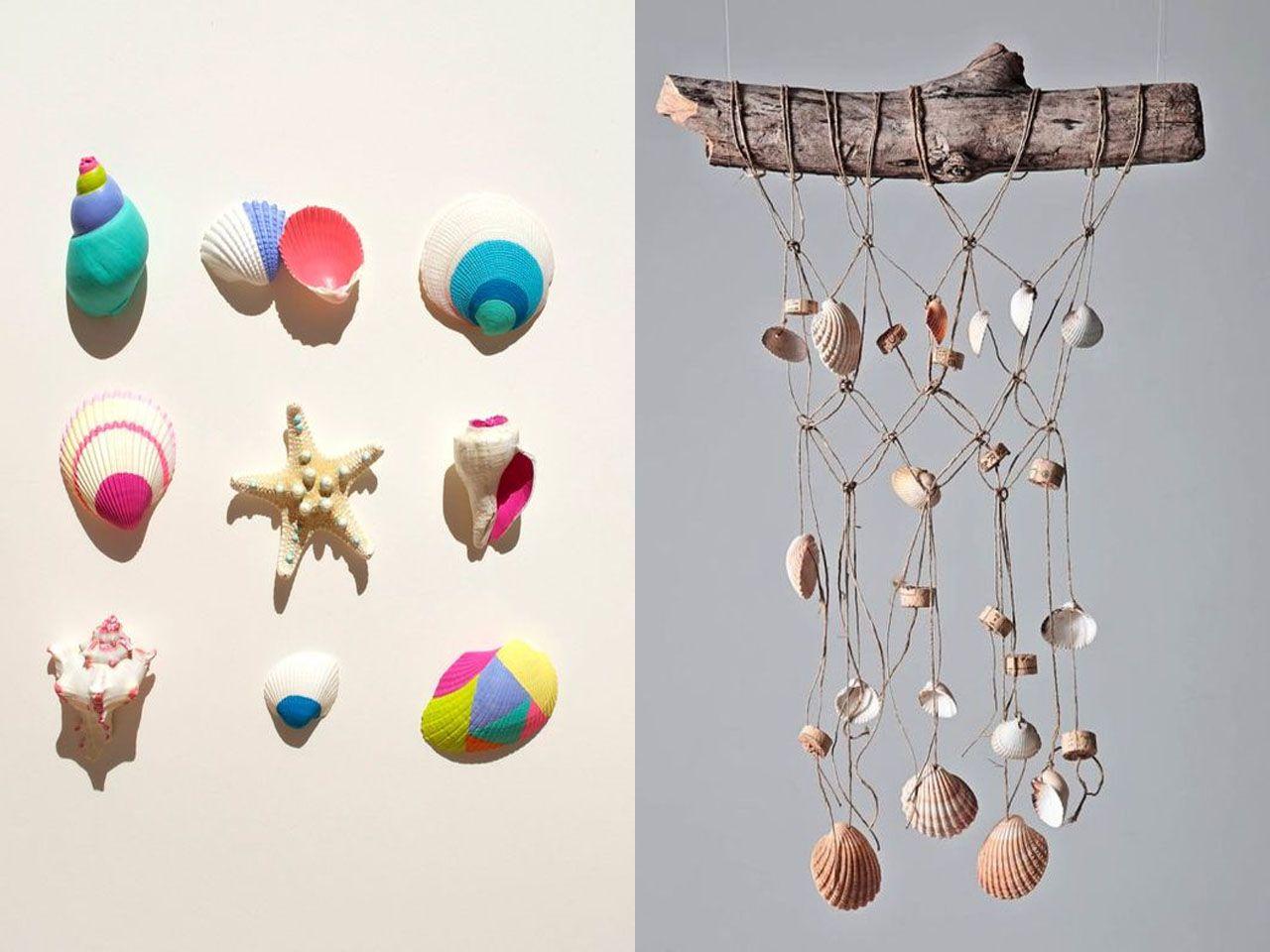 Las mejores y m s creativas manualidades con conchas de mar - Manualidades con conchas ...