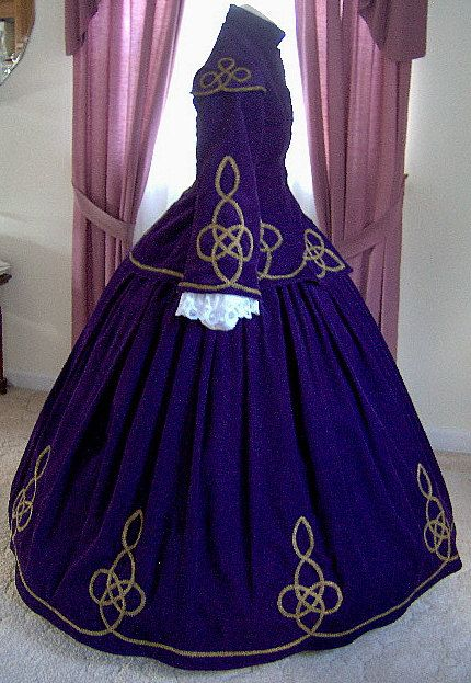 FOR ORDERS ONLY - Custom Made - 1860s Victorian Civil War Dress - Jacket Skirt…