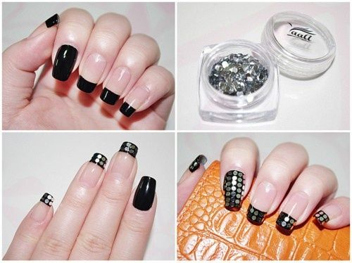 Simple Easy DIY Nail Art For Beginners With Step By Step Instructions.  Striped And Dotted Nail Art Tutorials To Make At Home Without Tools