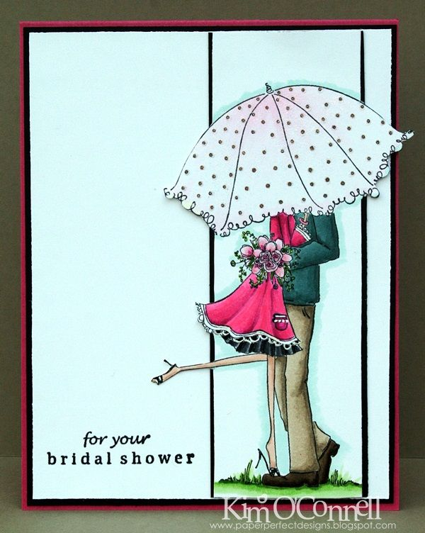 Paper Perfect Designs by Kim O'Connell : Uptown Couple Emily and Ryan Under the Umbrella by Stamping Bella