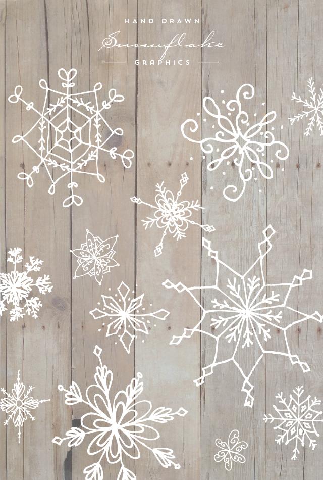 hand drawn snowflake graphics fensterbilder. Black Bedroom Furniture Sets. Home Design Ideas